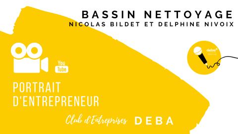 Portrait d'Entrepreneur avec Nicolas BILDET et Delphine NIVOIX – BASSIN NETTOYAG